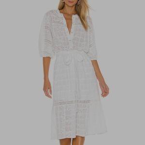 SANCTUARY Peninsula Heirloom White Midi Dress S